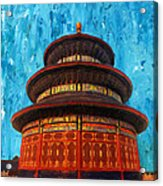 Temple Of Heaven Acrylic Print