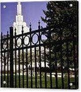 Temple Of Idaho Falls Acrylic Print