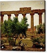 Temple Of Juno Lacinia In Agrigento Acrylic Print