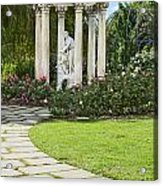 Temple Of Love Statue At The Rose Garden Of The Huntington. Acrylic Print