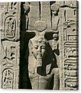 Temple Of Nefertari Dedicated Acrylic Print by Everett