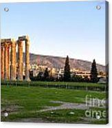 Temple Of Olympian Zeus. Athens Acrylic Print