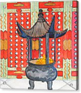 Temple Offerings Acrylic Print