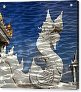 Temple Reflection Acrylic Print