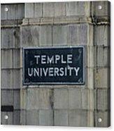 Temple U Acrylic Print