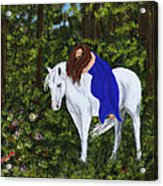 Temptress In The Forest Acrylic Print