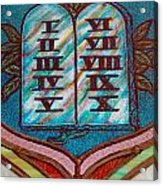 Ten Commandments Glass Acrylic Print