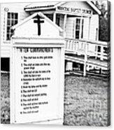 Ten Commandments Acrylic Print