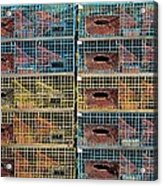 Ten Lobster Traps Acrylic Print by Stuart Litoff