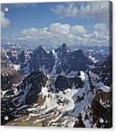 T-703502-ten Peaks From Summit Of Mt. Lefroy Acrylic Print