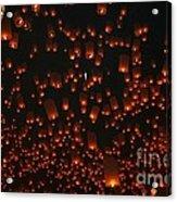 Ten Thousand Lantern Launch Acrylic Print