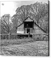 Tennessee Barn Bw Acrylic Print by Chuck Kuhn