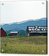 Tennessee Barn Acrylic Print by Roger Potts