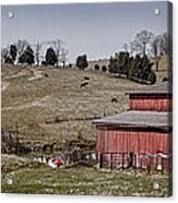 Tennessee Farmstead Acrylic Print by Heather Applegate