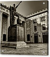 Tennessee War Memorial Black And White Acrylic Print