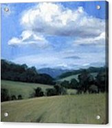 Tennessee's Rolling Hills And Clouds Acrylic Print
