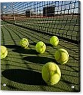 Tennis Balls And Court Acrylic Print by Joe Belanger