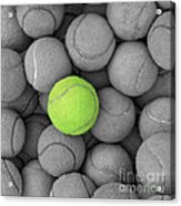 Tennis Balls Background Texture Acrylic Print by Phaitoon Sutunyawatcahi