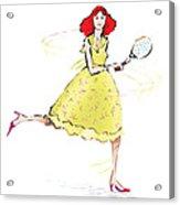 Tennis Lady Acrylic Print