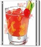 Tequila Sunrise Cocktail Marker Sketch Acrylic Print