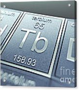 Terbium Chemical Element Acrylic Print