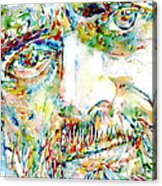 Terence Mckenna Watercolor Portrait.1 Acrylic Print