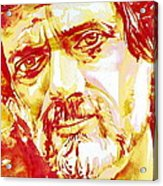 Terence Mckenna Watercolor Portrait.2 Acrylic Print
