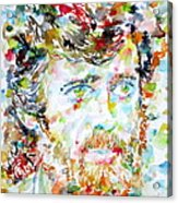 Terence Mckenna - Watercolor Portrait.3 Acrylic Print