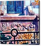 Terra Cotta And Iron Fence Acrylic Print