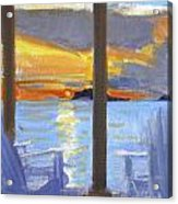 Terrace Sunset Acrylic Print
