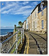 Terraced Cottages At Mousehole Acrylic Print