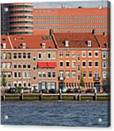 Terraced Houses In Rotterdam City Centre Acrylic Print