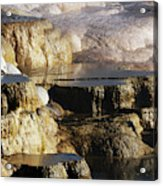 Terraces, Mammoth Hot Springs Acrylic Print