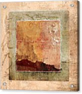 Terracotta Earth Tones Acrylic Print