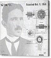 Tesla A / C Current Patent Art 1888 Acrylic Print