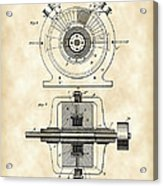 Tesla Alternating Electric Current Generator Patent 1891 - Vintage Acrylic Print