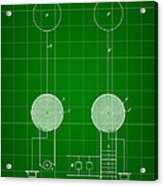 Tesla Electric Transmission Patent 1900 - Green Acrylic Print