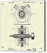 Tesla Generator 1891 Patent Art Acrylic Print by Prior Art Design