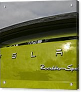 Tesla Roadster Acrylic Print