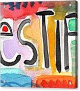 Testify- Colorful Pop Art Painting Acrylic Print