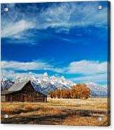 Teton Autumn Acrylic Print