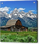 Teton Barn Acrylic Print