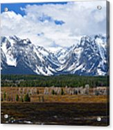 Teton Panorama I Right Panel Acrylic Print