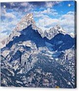 Teton Range And Two Trees Acrylic Print