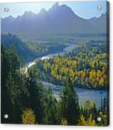 2m9301-teton Range From Snake River Overlook Acrylic Print