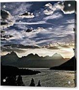 Teton Range Sunset Acrylic Print