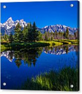 Teton Reflection Acrylic Print