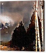 Teton Storm Acrylic Print