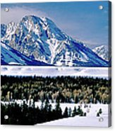 Teton Valley Winter Grand Teton National Park Acrylic Print