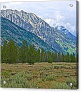 Tetons Above The Meadow In Grand Teton National Park-wyoming Acrylic Print